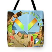 Turn Peace Around 2 Tote Bag by Charlie and Norma Brock