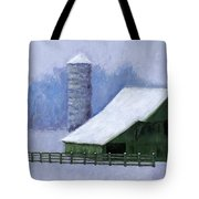 Turner Barn In Brentwood Tote Bag by Janet King