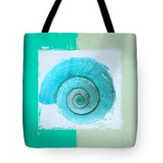 Turquoise Seashells X Tote Bag by Lourry Legarde