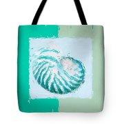 Turquoise Seashells XII Tote Bag by Lourry Legarde