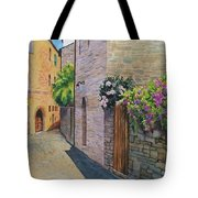 Tuscan Alley Tote Bag by Marguerite Chadwick-Juner