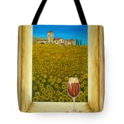 Tuscan View Tote Bag by Pamela Allegretto