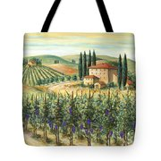 Tuscan Vineyard And Villa Tote Bag by Marilyn Dunlap