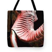 Tusk 4 - Red Elephant Art Tote Bag by Sharon Cummings