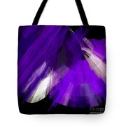 Tutu Stage Left Abstract Purple Tote Bag by Andee Design