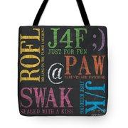 Tween Textspeak 1 Tote Bag by Debbie DeWitt