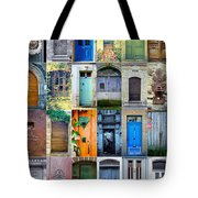 Twenty Four French Doors Collage Tote Bag by Georgia Fowler