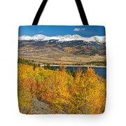 Twin Lakes Colorado Autumn Landscape Tote Bag by James BO  Insogna
