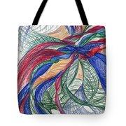 Twirls And Cloth Tote Bag by Kelly K H B