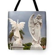 Two Angels With Cross Tote Bag by Terry Reynoldson