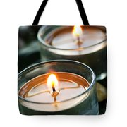 Two Candles Tote Bag by Elena Elisseeva