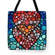 Two Hearts - Mosaic Art By Sharon Cummings Tote Bag by Sharon Cummings