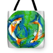 Two Koi Fish Tote Bag by Genevieve Esson