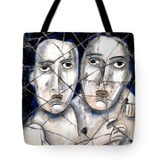 Two Souls - Study No. 1 Tote Bag by Steve Bogdanoff