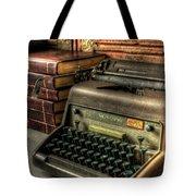 Typewriter Tote Bag by David Morefield