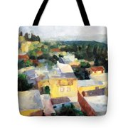 Tzfat Tote Bag by David Baruch Wolk