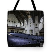 Uf University Auditorium Interior And Seating Tote Bag by Lynn Palmer