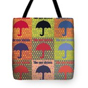 Umbrella In Pop Art Style Tote Bag by Toppart Sweden