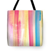 Umrbrella Stripe- contemporary abstract painting Tote Bag by Linda Woods