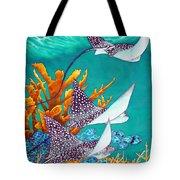 Under The Bahamian Sea Tote Bag by Daniel Jean-Baptiste