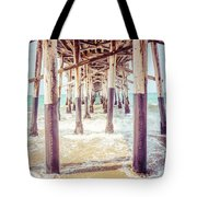 Under The Pier In Southern California Picture Tote Bag by Paul Velgos