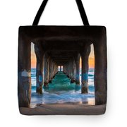 Under The Pier Tote Bag by Inge Johnsson