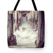 Under The Pier Vintage California Picture Tote Bag by Paul Velgos