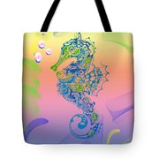 Under The Sea Horse Tote Bag by Cheryl Young
