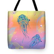 Under The Sea Jelly Fish Tote Bag by Cheryl Young