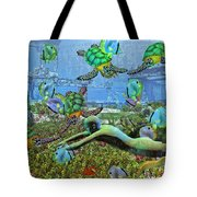 Under the Sea V Tote Bag by Betsy C  Knapp