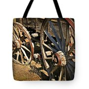 Unequal Wheels Tote Bag by Marty Koch