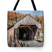Union Village Covered Bridge Thetford Vermont Tote Bag by Edward Fielding
