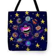 United Planets Of Eurotrazz Tote Bag by Robert SORENSEN