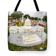 United States Capital Building at Legoland Tote Bag by Edward Fielding