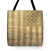 United States Declaration Of Independence Tote Bag by Dan Sproul