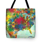 United States Map Tote Bag by Gary Grayson