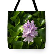 Unmanageable Beauty The Water Hyacinth Tote Bag by Byron Varvarigos