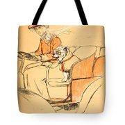 Up Front Tote Bag by Cecil Charles Windsor Aldin