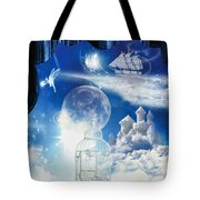 Up In The Air Tote Bag by Mo T