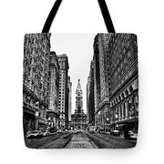 Urban Canyon - Philadelphia City Hall Tote Bag by Bill Cannon
