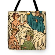 Uroscopy Patients With Syphilis 1497 Tote Bag by Science Source
