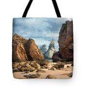 Ursa Beach Rocks Tote Bag by Carlos Caetano