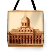 U.s. Capitol Design 1791 Tote Bag by Mountain Dreams