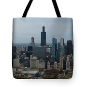 US Cellular and Wrigley Field Chicago BaseBall Parks 3 Panel Composite 02 Tote Bag by Thomas Woolworth