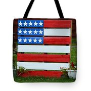 Usa Flag Tote Bag by Kim Stafford