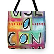Use A Condom Tote Bag by Linda Woods
