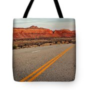 Utah Highway Tote Bag by Benjamin Yeager