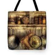 Utensils - Old Country Kitchen Tote Bag by Mike Savad
