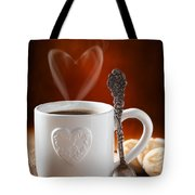 Valentine's Day Coffee Tote Bag by Amanda Elwell
