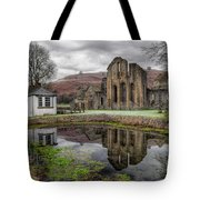Valle Crucis Abbey Tote Bag by Adrian Evans